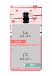 Galaxy A8 (2018) custom mobile covers: Photo with Heart Design