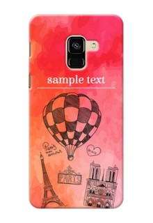 Galaxy A8 (2018) Personalized Mobile Covers: Paris Theme Design
