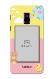 Galaxy A8 (2018) Back Covers: Kids 2 Color Design