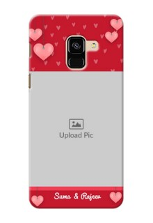Galaxy A8 (2018) Mobile Back Covers: Valentines Day Design