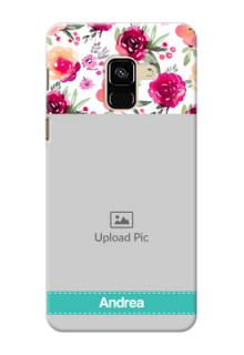 Galaxy A8 (2018) Personalized Mobile Cases: Watercolor Floral Design