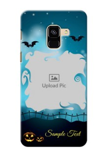 Galaxy A8 (2018) Personalised Phone Cases: Halloween frame design