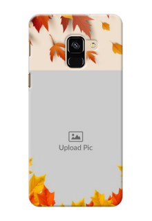 Galaxy A8 (2018) Mobile Phone Cases: Autumn Maple Leaves Design