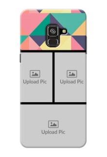 Galaxy A8 Plus 2018 personalised phone covers: Bulk Pic Upload Design
