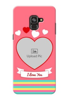 Galaxy A8 Plus 2018 Personalised mobile covers: Love Doodle Design