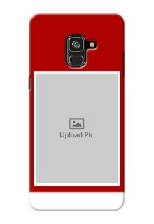 Galaxy A8 Plus 2018 mobile phone covers: Simple Red Color Design
