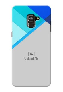 Galaxy A8 Plus 2018 Phone Cases Online: Blue Abstract Cover Design