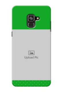 Galaxy A8 Plus 2018 Personalised mobile covers: Green Pattern Design