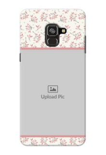 Galaxy A8 Plus 2018 Back Covers: Premium Floral Design