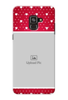 Galaxy A8 Plus 2018 custom back covers: Hearts Mobile Case Design