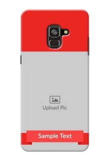 Galaxy A8 Plus 2018 Personalised mobile covers: Simple Red Color Design