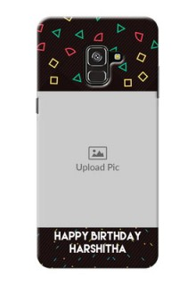 Galaxy A8 Plus 2018 custom mobile cases with confetti birthday design