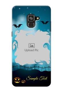 Galaxy A8 Plus 2018 Personalised Phone Cases: Halloween frame design