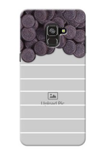 Galaxy A8 Plus 2018 Custom Mobile Covers with Oreo Biscuit Design