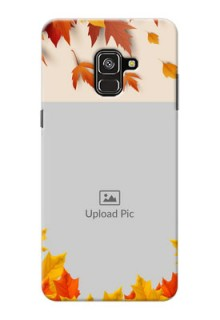 Galaxy A8 Plus 2018 Mobile Phone Cases: Autumn Maple Leaves Design