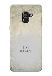 Galaxy A8 Plus 2018 custom mobile back covers with vintage design