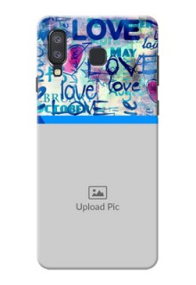 Samsung Galaxy A8 Star Mobile Covers Online: Colorful Love Design