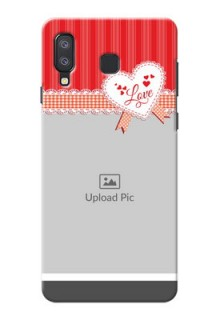 Samsung Galaxy A8 Star phone cases online: Red Love Pattern Design