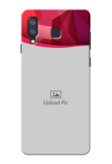 Samsung Galaxy A8 Star custom mobile back covers: Red Abstract Design