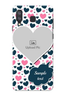 Samsung Galaxy A8 Star Mobile Covers Online: Pink & Blue Heart Design