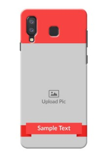 Samsung Galaxy A8 Star Personalised mobile covers: Simple Red Color Design