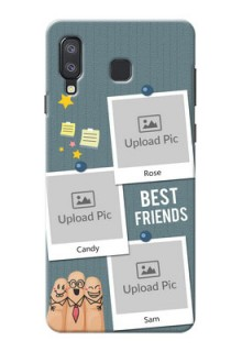 Samsung Galaxy A8 Star Mobile Cases: Sticky Frames and Friendship Design