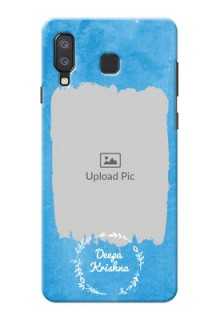 Samsung Galaxy A8 Star custom mobile cases: Blue Color Vintage Design