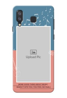 Samsung Galaxy A8 Star Phone Back Covers with Color Musical Note Design