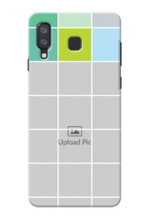 Samsung Galaxy A8 Star personalised phone covers with white box pattern