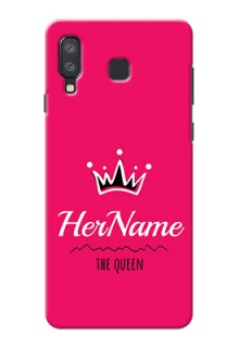 Galaxy A8 Star Queen Phone Case with Name