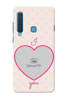 Samsung A9 2018 Personalized Mobile Covers: Heart Shape Design