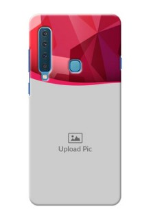 Samsung A9 2018 custom mobile back covers: Red Abstract Design