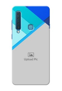 Samsung A9 2018 Phone Cases Online: Blue Abstract Cover Design