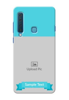Samsung A9 2018 Personalized Mobile Covers: Simple Blue Color Design