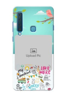 Samsung A9 2018 phone cases online: Doodle love Design