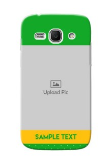 Samsung Galaxy Ace 3 Green And Yellow Pattern Mobile Cover Design