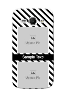Samsung Galaxy Ace 3 2 image holder with black and white stripes Design