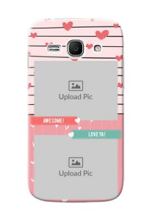 Samsung Galaxy Ace 3 2 image holder with hearts Design