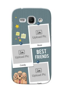 Samsung Galaxy Ace 3 3 image holder with sticky frames and friendship day wishes Design