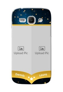 Samsung Galaxy Ace 3 2 image holder with galaxy backdrop and stars  Design