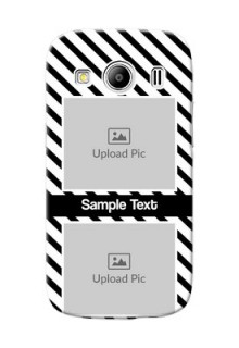 Samsung Galaxy Ace 4 LTE 2 image holder with black and white stripes Design