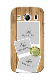 Samsung Galaxy Ace 4 LTE 3 image holder with wooden texture  Design