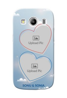 Samsung Galaxy Ace 4 LTE couple heart frames with sky backdrop Design