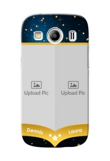 Samsung Galaxy Ace 4 LTE 2 image holder with galaxy backdrop and stars  Design