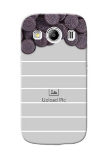Samsung Galaxy Ace 4 LTE oreo biscuit pattern with white stripes Design Design