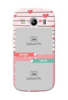 Samsung Galaxy Ace 4 2 image holder with hearts Design