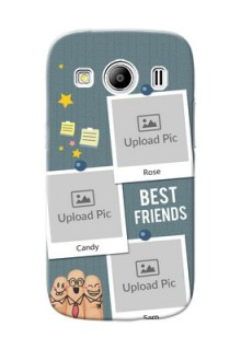 Samsung Galaxy Ace 4 3 image holder with sticky frames and friendship day wishes Design