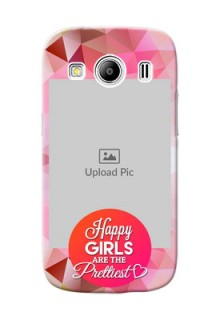 Samsung Galaxy Ace 4 abstract traingle design with girls quote Design