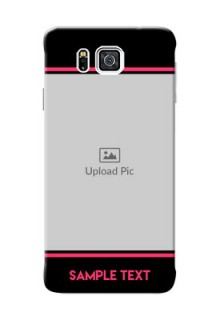 Samsung Galaxy Alpha G850 Photo With Text Mobile Case Design