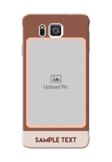 Samsung Galaxy Alpha G850 Simple Photo Upload Mobile Cover Design